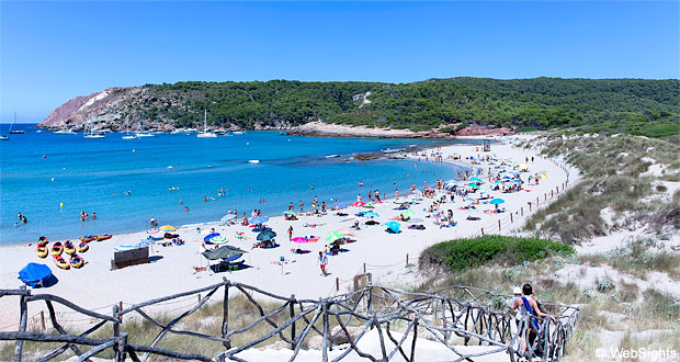 Cala Algaiarens beaches Menorca