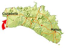 Cala Santandria karta