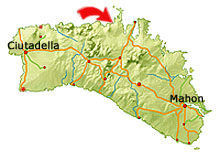 Playa de Cavalleria map