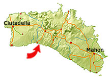 Cala Mitjana map