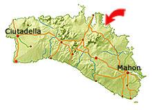 Arenal d'en Castell map