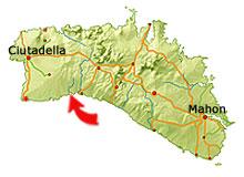 Cala Macarella map