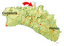 Playa de Cavalleria Karte